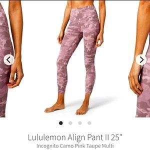 """Lululemon Align Pant II 25"""""""